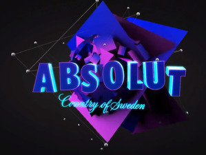 Absolut Vodka. Transparent display video content.